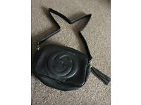 Black ladies small bag gucci style long
