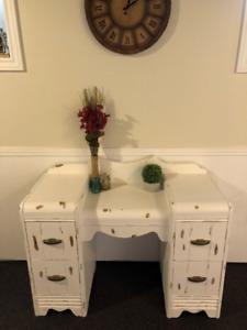 Antique/Vintage Waterfall Vanity - Table - Desk - Dresser