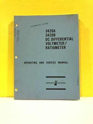Hp 03420-90002 3420a 3420b Differential Voltmeterratiometer Opsservice Manual
