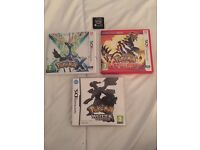 Pokemon X, Omega Ruby, White and Black! Sealed game! Nintendo DS/2DS/3DS
