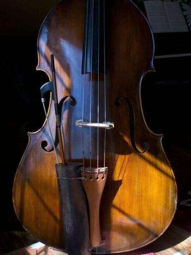 "Double Bass Upright ""French Quenoil"" w/ OTTO DÜRRSCHMIDT bow and SOUNDWEAR case!"