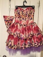 Cute puffy prom dress or party dress size 0 !