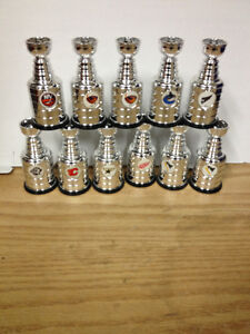 "NHL Mini Stanley Cups Labatt 4 1/2"" Tall Like New."