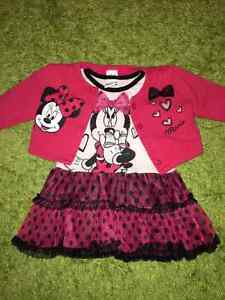 Disney Dress Mini with a sweater 2T girl