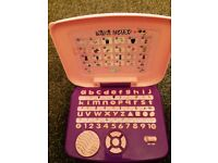 Mini laptop, numbers, alphabet, spelling, quiz and notes