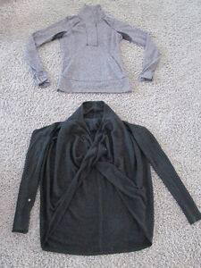 Lululemon Size 6 Shirts Pullover and Wrap Shrug Black Grey