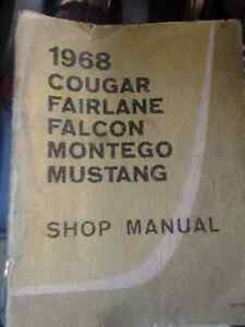 1968 Cougar, Falcon, Fairlane, Montego factory repair manual