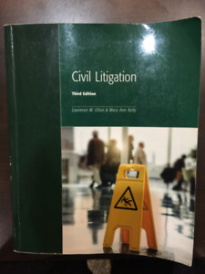 Civil Litigation textbook for Paralegal or Law Clerk