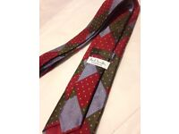 🎄Paul Smith Mens tie multi red green blue gold