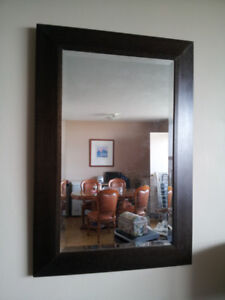 Modern wood mirror