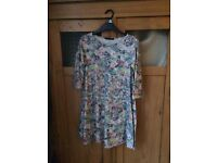 Floral swing dress size S