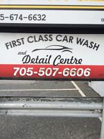 First class car wash and detailing centre