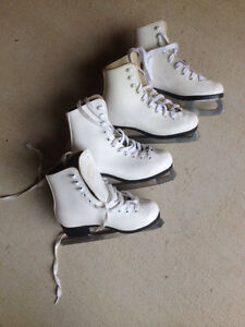 Two pairs of girls ice skates size 12 London Ontario image 1