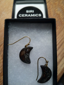 PAIR OF NEW, HAND CRAFTED EARRINGS BY DESIGNER BRAND
