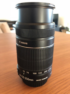 Lentille Canon Zoom 55-250mm Telephoto Lens