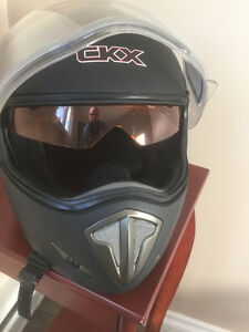 Snowmobile Helmet GKX Dot- Black