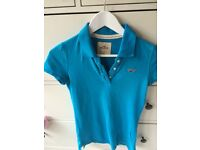 Hollister turquoise female polo tshirt
