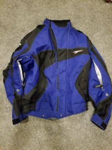 Motor cycle jacket and gloves