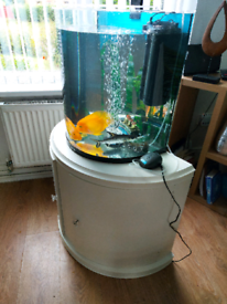 Tetra fish tank full set up with cabinet as new