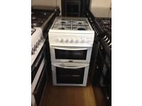 Belling white gas cooker