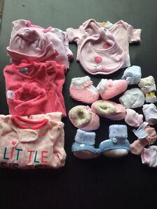 Lot de vêtements FILLE nouveau née / GIRL clothes NB