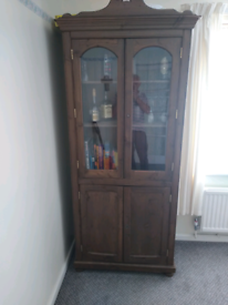 Tall display/drinks cabinet and storage unit.