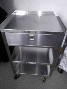 Stainless Steel Tables/Stands on Wheels