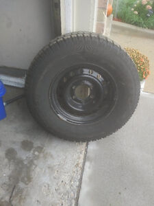 Snow tires on steel rims less than 1000km