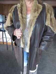 Genuine Leather and Fur Jacket Peterborough Peterborough Area image 1
