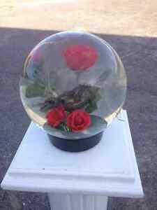 GLASS BALL WITH FLOWERS Belleville Belleville Area image 1