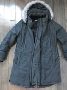 Maternity Winter Coat - Thyme - Size L - EXCELLENT condition!