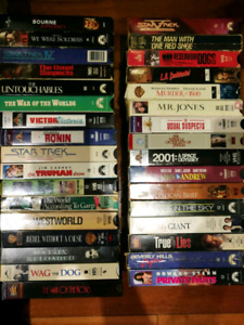 1350 plus 3 boxes of vhs video cassette with free vcr