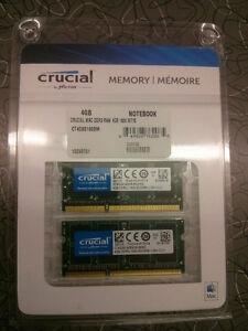 2x MacBook Crucial 4GB RAM (8GB in total) Lifetime Warranty