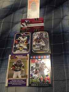 6 Assorted Adrian Peterson Football Cards