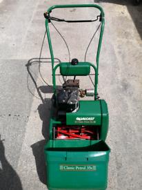 Petrol 14 inch self propelled cylinder lawnmower lawn mower,