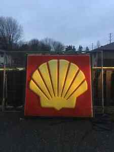 vintage shell signs