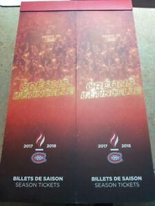 Montreal Canadiens Season Tickets 321BB Center Ice Whites