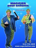 Spectacle de magicien/clown pour fêtes d'enfants à domicile