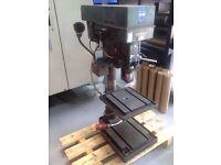 Meddings m4-3 pillar drill with back gear