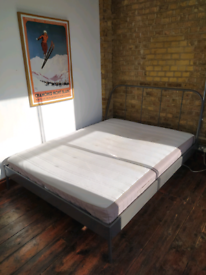 Bed frame and mattress to collect