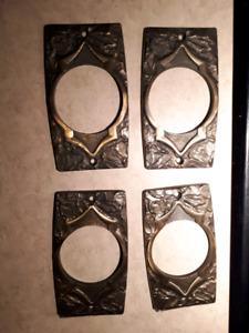 Door handle and lock trim plates