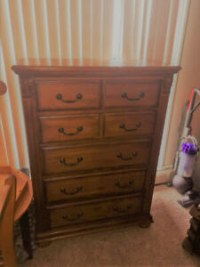 Beautiful Heavy Large Solid Wood Highboy Dresser For 170