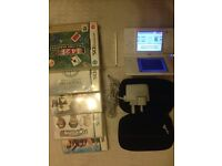 Nintendo DSi console with 2 cameras and games -£39