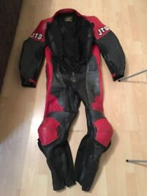 All in One JTS Leather Motorbike Suit