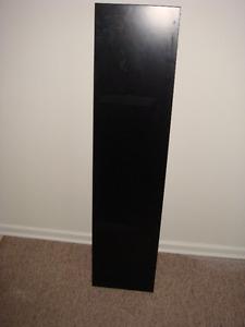 "BLACK FLOATING SHELVE 10 x 44"""