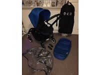 Bugaboo bee3 limited edition black frame blue hood SWAPS