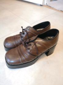 Vintage 70s Platform Shoes boots UK9