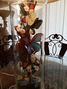 REAL BUTTERFLY TRI-LIGHT LAMP WITH NIGHT LIGHT/Price Drop