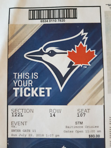 Blue Jays Tickets for this Sunday - FABULOUS SEATS