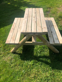 Picnic bench garden table 5ft